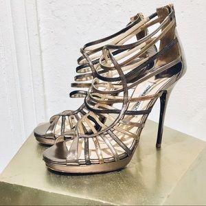 JIMMY CHOO sz:39 Virginia caged stiletto sandals